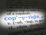 Dictionary Copyright Blue On White