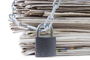 Kranten met slot